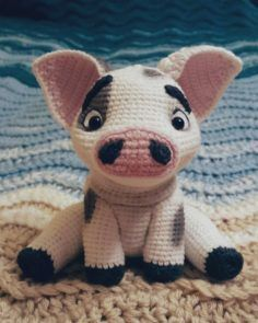 Most up-to-date Pics Crochet animals pig Popular crochet pua pig amigurumi patterns afghan patter Crochet Pig, Crochet Disney, Cute Crochet, Crochet Crafts, Crochet Dolls, Diy Crochet Toys, Crochet Animal Patterns, Crochet Patterns Amigurumi, Stuffed Animal Patterns