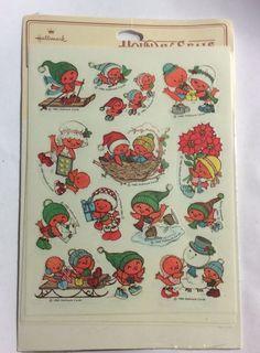 Vintage Hallmark Cards Holiday Seals Stickers 1982 Cute Birds New Old Stock | eBay