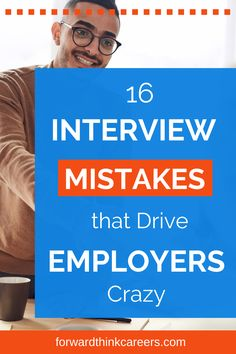 Hey job hunters - don't let these 16 interview no-nos derail your chances of landing a job offer! Click to discover these common job interview mistakes and how to right these wrongs. You'll then sail from interview round to interview round and get hired before you know it! Job Interview Preparation, Job Interview Tips, Online Job Applications, Finding A New Job, Career Exploration, Phone Interviews, Interview Questions And Answers, Job Offer, Career Advice