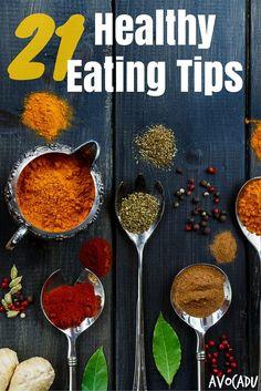 Healthy eating tips pin