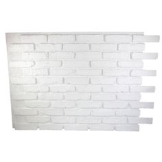 Superior Building Supplies Dove White 32 in. x 47 in. x 3/4 in. Faux Reclaimed Brick Panel - HD-RB3247-DWS - The Home Depot