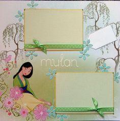 Disney Scrapbook Page Layouts | 12x12 single page scrapbook layout Disney's Mulan