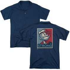 Popeye Strong Adult Polo Shirt