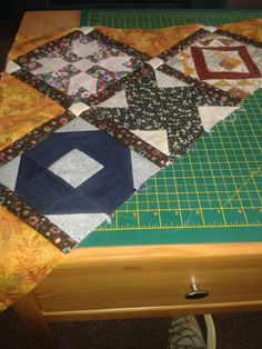 1920's Farmers Wife Sampler Quilt, top left, good start, I think.
