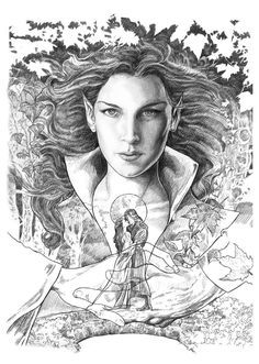 """all the drawings here,are for a book call """"Tolkien,seres fantásticos de la tierra media""""-Alberto Santos editor"""