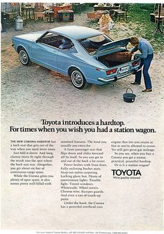 1971 Toyota Corona - Playboy Advertisement November 1971