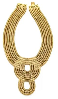 Gold large necklace