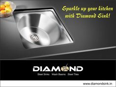 Your #Kitchen is incomplete with #DiamondSinks. Get one today! Explore the complete range @ www.diamondsink.in #SteelSink #SteelKitchenSink #Sink #Kitchen #KitchenSinks
