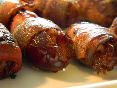 Bacon Wrapped Dates These little bites are like bacon candy. Sweet from the dates and salty from the bacon. Yum yum! This recipe is inspired by my good friend Janice.. she makes these stuffed with...