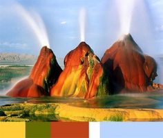 Colors & Places. Fly Geyser, Nevada