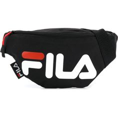 Fila logo bumbag ($24) ❤ liked on Polyvore featuring bags, handbags, black, fila, logo bags, logo handbags and fila bags