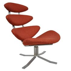 Mid-Century Modern Corona Chair by Poul M. Volther for Erik Jorgensen