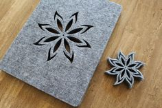 New GREY Placemats and coaster Fire Aster Shape Felt Table Mats Set of 8 by FeelMyCraft on Etsy