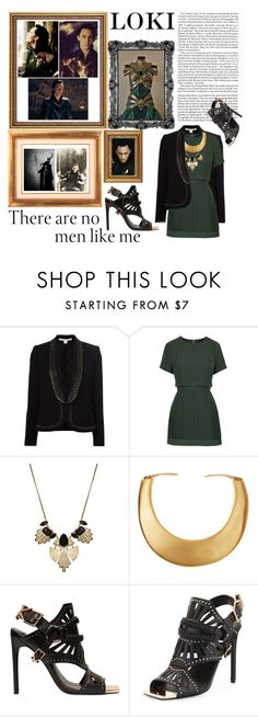 """LOKI - There are no men like me"" by lillihusse ❤ liked on Polyvore featuring Diane Von Furstenberg, Topshop, Kenneth Jay Lane and Ivy Kirzhner"