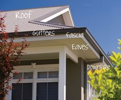 Colorbond roof colours: good tips on choosing colours that complement your roof. House Exterior Color Schemes, Grey Exterior, House Paint Exterior, Exterior Paint Colors, Paint Colors For Home, Paint Colours, Bungalow Exterior, Gutter Colors, Colorbond Roof