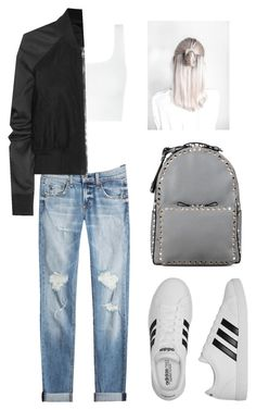 """""""Untitled #66"""" by fall1022 on Polyvore featuring rag & bone, adidas, Rick Owens and Valentino"""