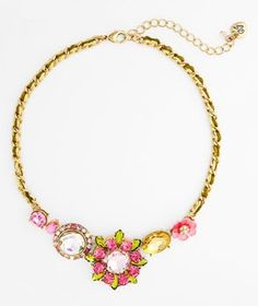 yes, please! this fun and sparkly Betsey Johnson necklace is a must have. get your pink  #wedding accessory fix here: http://www.mywedding.com/articles/pink-wedding-accessories/