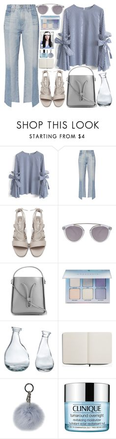 """""""333. Seriously Striped"""" by ass-sass-in ❤ liked on Polyvore featuring Chicwish, AG Adriano Goldschmied, Westward Leaning, 3.1 Phillip Lim, Anastasia Beverly Hills, Shinola, MICHAEL Michael Kors and Clinique"""