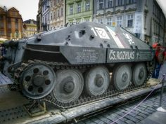 A prototype #WWII tank from Czechoslovakia, placed on the Old Town Square to commemorate the 70th anniversary of the battle for the Radio Station during the #PragueUprising. May 5th, 2015 www.nakedtourguideprague.com