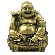 Gold Tone Resin Happy Buddha Statue -- You can find more details by visiting the image link.