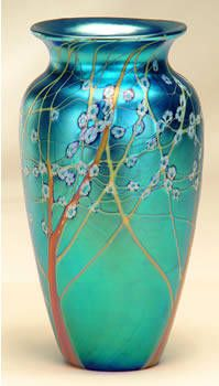 Artist: Orient and Flume , Title: Blue Hawthorn Vase