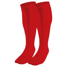 plain red soccer socks
