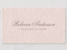 Shop Blush pink wood texture chic trendy pretty script business card created by TheStationeryShop.