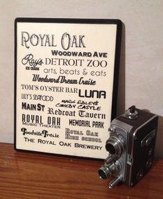 Word Art Plaque Royal Oak by StudioEightTwentyOne on Etsy