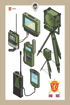 Design: Technical Illustrations For The Norwegian Army Tactical Equipment, Military Equipment, Weapon Concept Art, Game Concept, Blackhawk Tactical, Norwegian Army, Technical Illustrations, Army Vehicles, Military Guns
