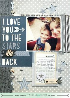 #papercraft #scrapbook #layout. color theme: to the stars & back by @lexi Bridges - Two Peas in a Bucket