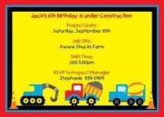 truck birthday, birthday parties, construction birthday, birthday invitations, boy birthday, 2nd birthday, 1st birthdays, parti idea, birthday ideas
