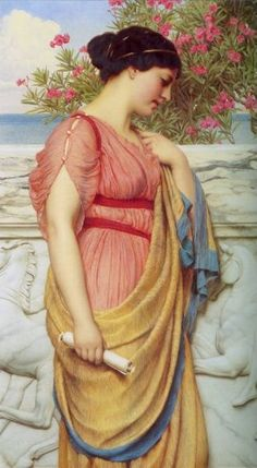 Sappho Artist:	John William Godward Country of Origin:	United Kingdom Date of Creation:	1910 AD