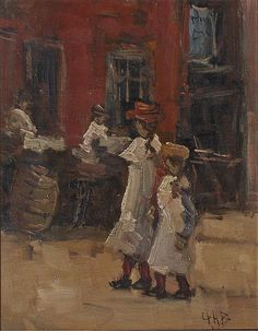 George Hendrik Breitner 1857-1923. Girls strolling on the street.