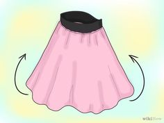 How to Make a Poodle Skirt Without a Pattern and With Minimal Sewing. Poodle skirts don't have to be a two-week project with this easy formula. A poodle skirt has a wide elastic waistband that mimics a belt and there is no hemming. Poodle Skirt Pattern, Skirt Pattern Free, Poddle Skirt, Skirt Fashion, Diy Fashion, Sock Hop Outfits, Poodle Skirt Costume, Poodle Drawing, 50s Sock Hop