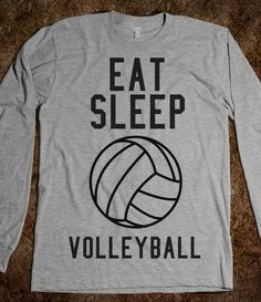 eat sleep volleyball - Volleyball - Skreened T-shirts, Organic Shirts, Hoodies, Kids Tees, Baby One-Pieces and Tote Bags