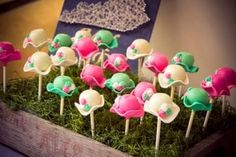 Derby hat cake pops. Kentucky Derby Bridal shower
