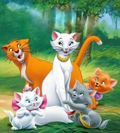 ♥ Aristocats ♥ Disney Pixar, Walt Disney, Disney Cats, Disney Animation, Disney Cartoons, Disney Love, Disney Characters, Marie Aristocats, Disney Images