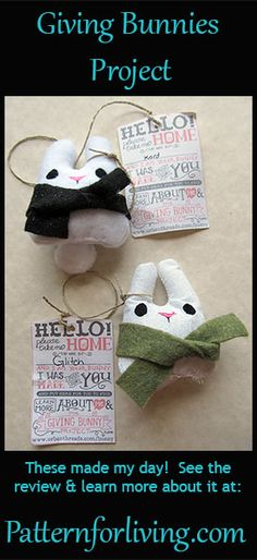 Pattern for Living | The Giving Bunnies Project -- free pattern
