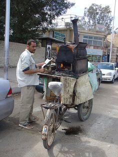 Kartoffelmann by olga rashida. Food vendor in egypt.