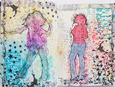 Maria Schmidt Scrap-Art-Design Schmidt, Art Journaling, Scrap, My Arts, Diagram, Design, Art Diary, Tat