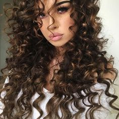 Amazing Long Curly Hair Styles 51 Chic Long Curly Hairstyles: How to Style Curly Hair - Glowsly Long Curly Hair, Curly Hair Styles, Natural Hair Styles, Wild Curly Hair, Wavy Hair, Curly Bob, Dream Hair, Hair Dos, Gorgeous Hair