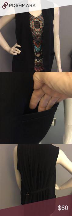 Black Antonio Melani Dressy Vest with Pockets Beautiful Black Dressy Antonio Melani Vest with Buckle in the back ANTONIO MELANI Other