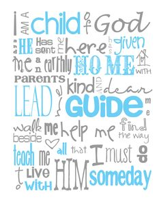 I Am a Child of God Nursery Subway Art Digital by MyPoshDesigns, $8.00