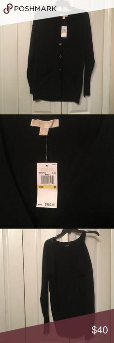 Michael Kors Ladies Black Sweater Size M NWT NWT MK Winter Sweater Runs Big Michael Kors Sweaters Cardigans