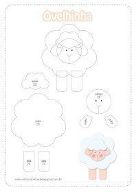 Dicas pra Mamãe: Moldes Fazendinha baby para decorações em feltro e EVA
