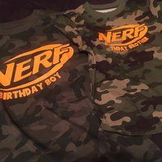 Nerf birthday boy