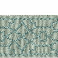 charlotte Moss Aqua trim from calico corners (option for bedroom curtains) Interior Design Curtains, Calico Corners, Aqua Fabric, Passementerie, Decorative Trim, Fabric Wallpaper, Drapery, Color Trends, Teal Accents