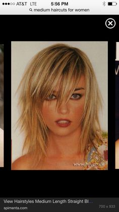 App To Change My Hairstyle | Bangs Hairstyles Sideswept | Pinterest ...