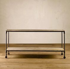 $995 Restoration hardware. COnsole table by the dinning room table