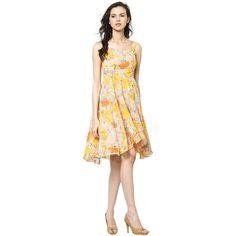 STRAP DRESS IN GEOREGETTE / DRF2431 - The Online Fashion Brand